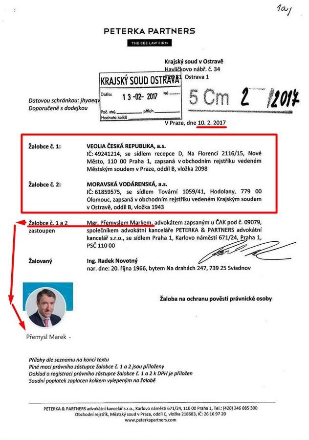ochrana pověsti - podání žaloby 10.2.17